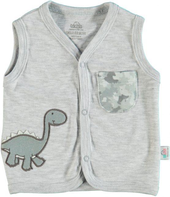 Dinozor Figürlü Erkek Yelek