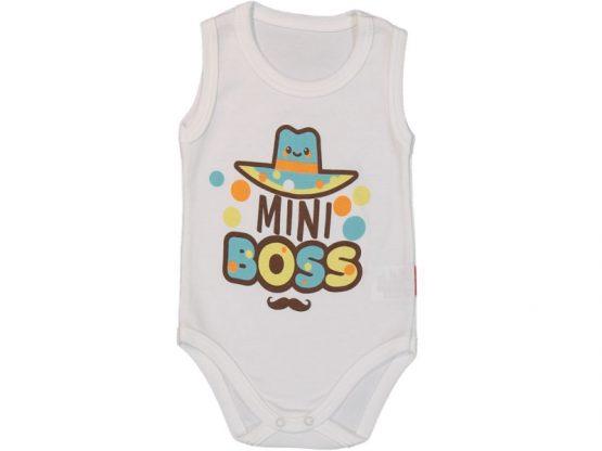Mini Boss Şapkalı Desenli Çıtçıt Badi