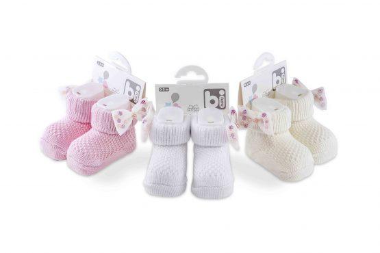 Bibaby Boncuklu Fiyonklu Bebek Çorabı